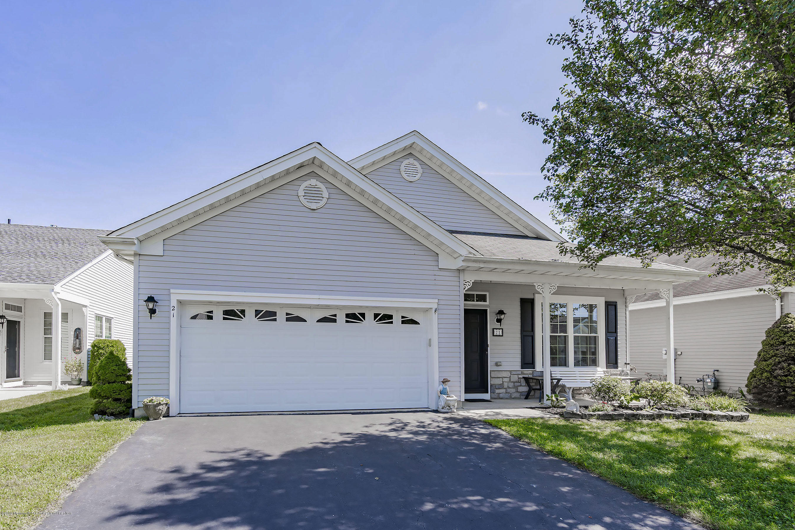 Welcome Home! This one of-a-kind Barnegat Model could be yours. The owner extended the Family Room making a very large Open Floor Plans for entertaining.  Sit by the gorgeous Fireplace and enjoy. Also there are BRAND new windows throughout the home. Updated EIK with cabinets galore.Tile Back splash.  the MBR is spacious and features a WIC and full bath.  the 2nd Bedroom is also spacious and has the Full 2nd Bathroom nearby. Additionally there is a very large(length  of the home)patio overlooking a Park Like Setting. Owner has recently replaced the shutters/storm door and painted the front door.  Lots of curb appeal.  Great lot.  This has been a non-smoking home and no pets. Nearby all major highways, shopping, restaurants and Long Beach Island(LBI)