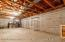 full basement with high ceilings