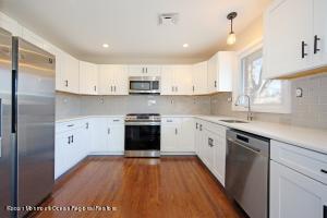 Beautiful kitchen with new hardwood floors.