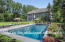 This pool is photoshopped into the picture, but there is PLENTY of room for you to put in the pool of your dreams!