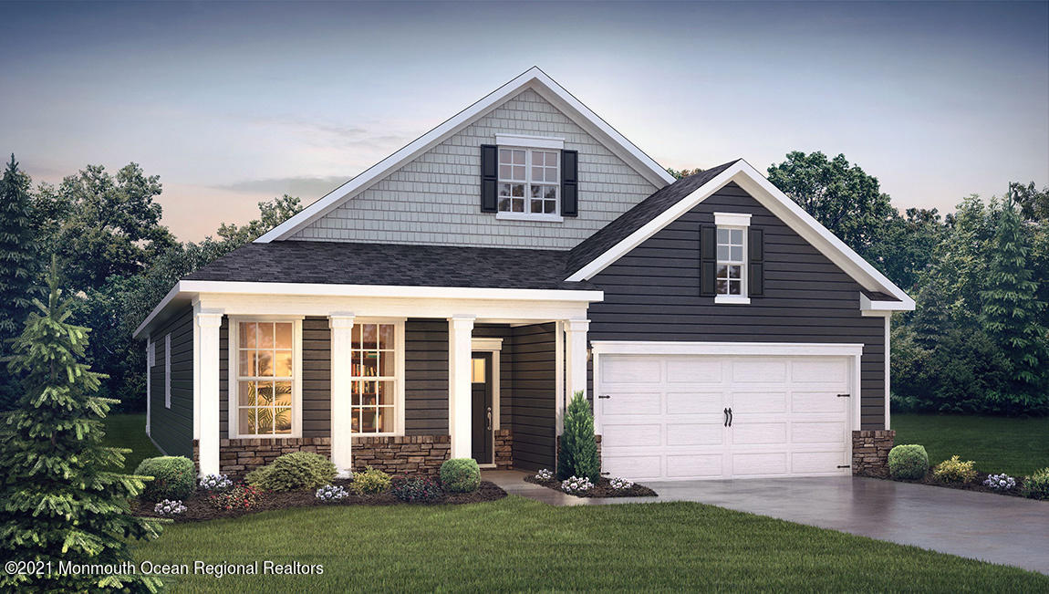 Quick Closing! This Dover is a stunning new single-story home featuring 1,958 sq. ft, of living space, 3 bedrooms, a flex room, 2 bathrooms and a 2-car garage. The Dover has it all! The elegant foyer welcomes you with access to a bedroom, full bathroom and flex room, on one side, to be used as you wish. Down the hall, you'll find another large bedroom and laundry room set back on the opposite side. The kitchen features plenty of counterspace, cabinets and and a large Walk In Pantry. The modern island overlooks the dining area and Living Rm. The luxurious owner's suite, features a spacious bathroom and large walk-in closet that connects to the laundry room - simplifying an everyday chore! This home also boasts a corner home site and rear covered porch with a picturesque view. Photos do not reflect actual home, pricing subject to change without notice. Incentives are tied to using Preferred lender.