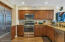 Stainless steel appliances, granite countertops
