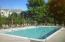 The pool is heated/salt water