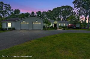 Located on one of the most prestigious drives in Colts Neck, Cedar Drive. Come make this ranch your next dream home. Many possibilities.