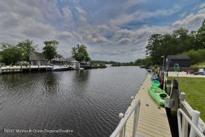 Floating dock is 60' x 5' and makes it very easy to get on/off a boat or kayak