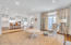 Beautiful family room open to kitchen , French doors to back orch