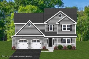 This is an artist rendering of 2831 1/2 W Bangs Avenue. Colors and details will differ once the home is built. A home is now being built at 726 Old Corlies Avenue by the same builder who will be building this home.