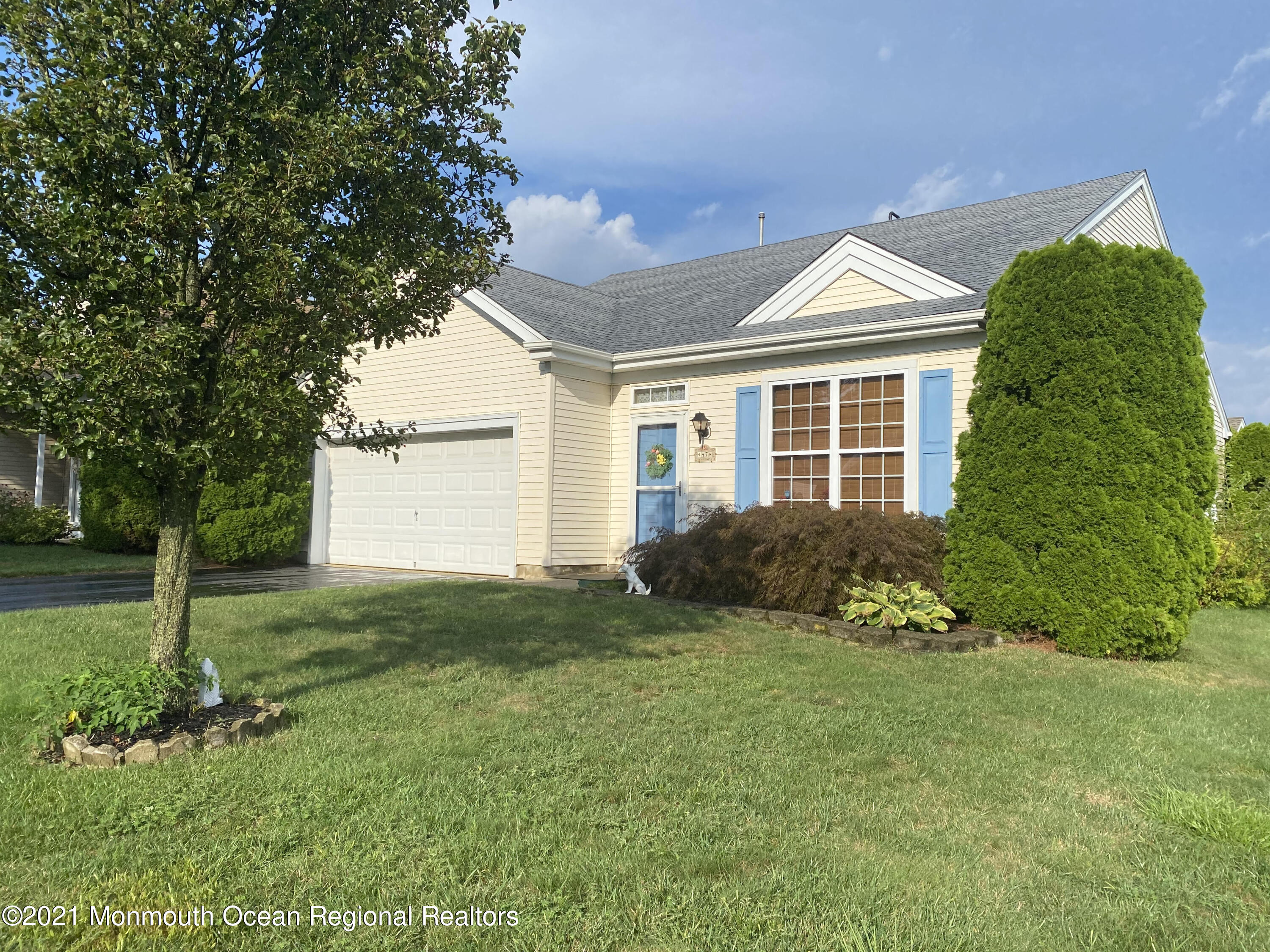 Beautifully maintained Barnegat model in Barnegat's Heritage Bay Community. This two bedroom, two bathroom home features an open concept living room, dining room combination. The eat in kitchen is open to the family room. The kitchen features a newer stainless steel refrigerator. The roof is new as of late Winter 2020. The back sliding door opens up to a patio with built in privacy.  The master bedroom features a large walk in closet and private master bath. The Clubhouse features a gym, library, and pool. Close to highways, restaurants, shopping and beaches!