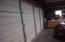 North-alley view of door