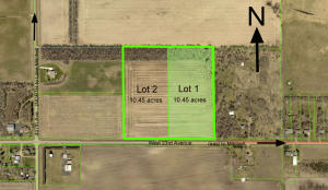 Lot 1 is 10.45 acres