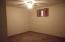 NEW Carpet. Large window-not egress.