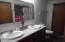 Double Sinks, newer flooring & vanity.