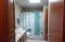 This Full Bath has a Shared door into the Master Bedroom.