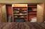 Full sized closet with organizer