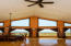 Vaulted ceiling in great room .