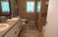 Double sinks & tile surround.