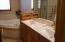 Double Sinks, Heated Tile Floor, Jetted Oval Tub w/tile surround