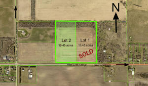 Lot 2 is 10.45 acres