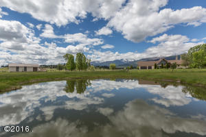 Ponds reflect the blue skies on Montana