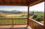 Picturesque views from the covered deck