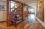 Foyer, Acacia floors are new