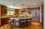 Copper surround, kitchen island