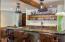 Toboggan overhead shelving :Ice maker, refrigerator, wine cooler, included