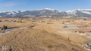 This is an aerial photo of the land which is annexed into the City of Stevensville and ready for platting and completion as Phase II and Phase III