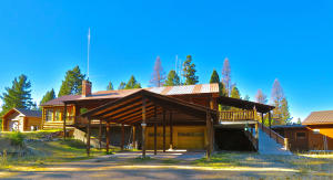 Handicap accessible log home in beautiful setting.