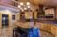 Gourmet kitchen with center island.
