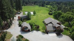 Aerial of Home, Cabin and Barn