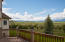 Balcony views out over a large adjoining ranch and land to the south which is also for sale.