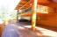 Main floor side deck & private master deck