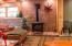 Lower level living room/propane fireplace
