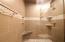 Lower level shower with custom tile