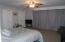 Master bedroom with sliding doors to deck.