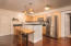 Kitchen with Updated Refrigerator