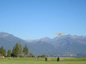 Flying out from airstrip on proeprty