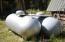 2 rented 500 gallon propane tanks