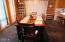 Spacious & roomy dining area offer room plenty of seating space. Slate tile floors