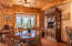 Dining off the kitchen and family room