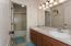 Upstairs Bathroom with 2 sinks!