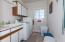 Laundry room off the kichen