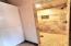 Linen closet beside Master shower