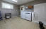 Mud-room with Washer/Dryer and Doggie shower-
