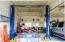 Oversized garage with lift.