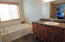 Master bathroom/Main level with jetted tub.