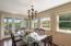 Dining opens to screened in porch