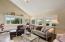 Abundant windows in living room