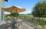 Outdoor deck with trex decking.